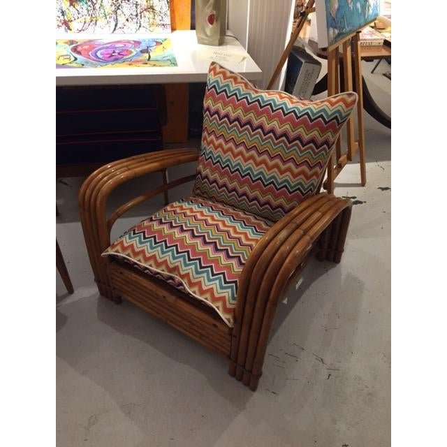 Mid-Century J.B. Van Sciver Co Lounge Rattan Chair For Sale - Image 4 of 6