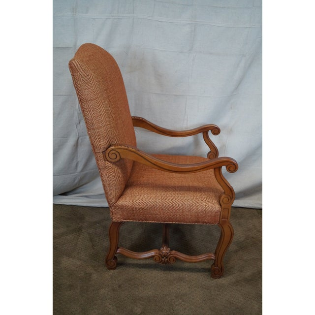 Quality Renaissance Style Carved Frame Arm Chair - Image 3 of 10