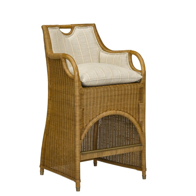 Ralph Lauren Jamaica Wicker Bar Stool For Sale