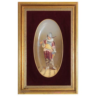 19th Century Framed Signed Hand-Painted Porcelain Plaque by J.B. For Sale