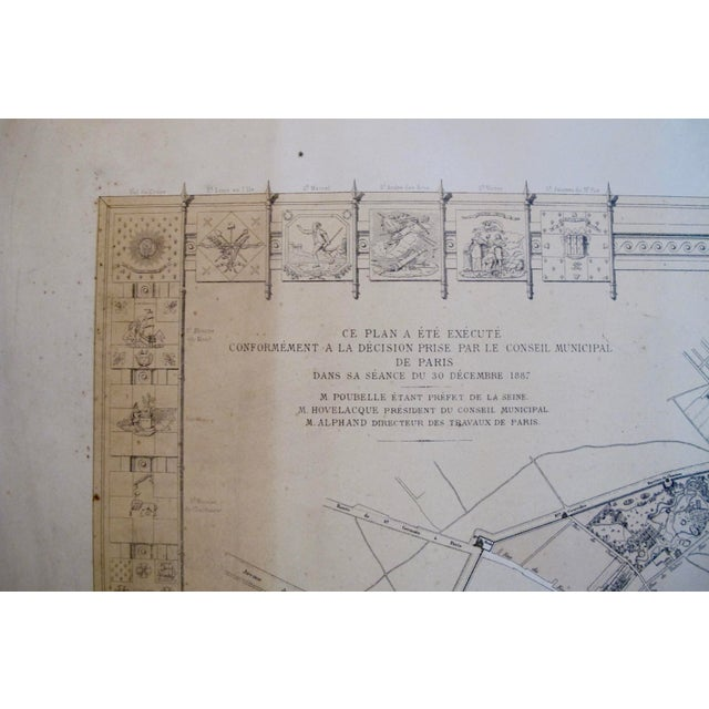 Original 1887 Map of Paris - Image 6 of 6