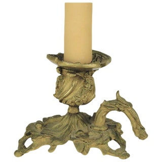 Bronze Candle Holder Lamp For Sale