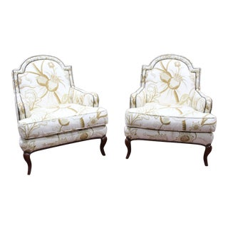 Vintage Baker Hollywood Regency Chairs- A Pair For Sale