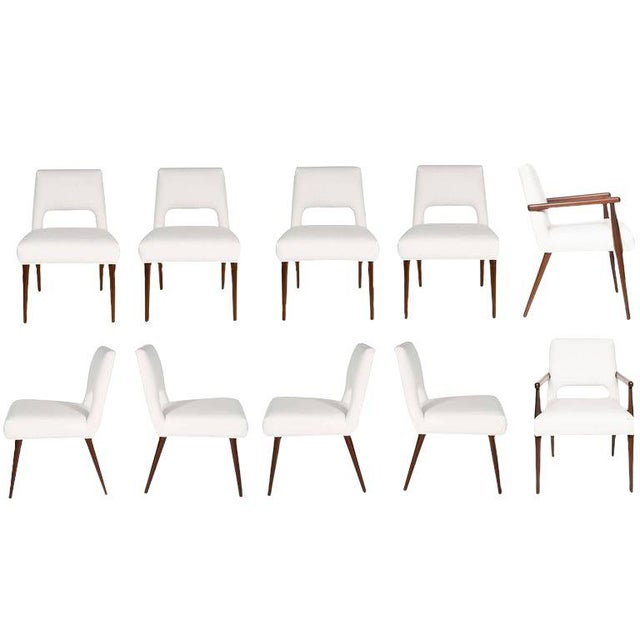 Customizable Set of Ten Hofford Dining Chairs For Sale In New York - Image 6 of 6