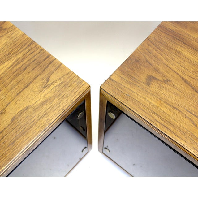 Mid-Century Modern Mid-Century Walnut Cabinets - a Pair For Sale - Image 3 of 8