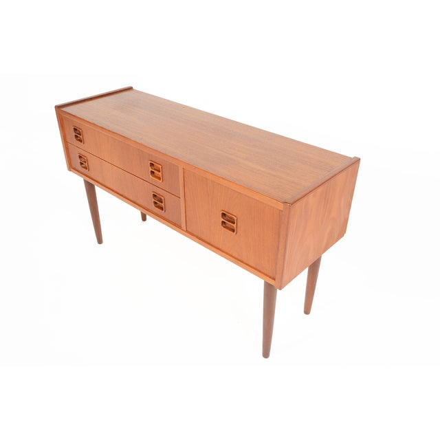 Danish Modern Long Teak Console - Image 3 of 7