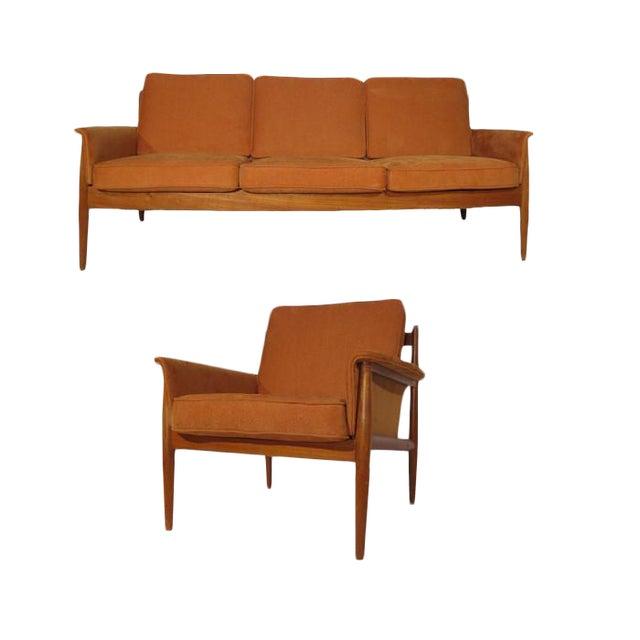 Grete Jalk Teak Sofa & Lounge Chair - A Pair - Image 1 of 9