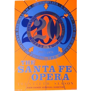 "Robert Indiana X ""The Santa Fe Opera '20th Season'"" Foil Serigraph Poster For Sale"