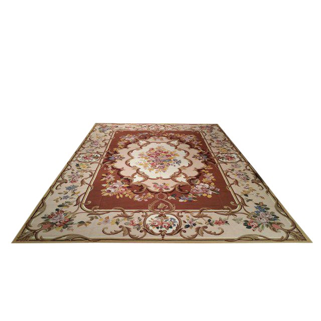 Aubusson Needlepoint Rug - 10x14 For Sale