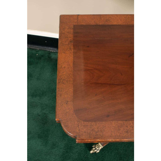 Wood Federal Cross-Lyre Card Table For Sale - Image 7 of 10