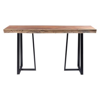 Live Edge Acacia Wood Console Table