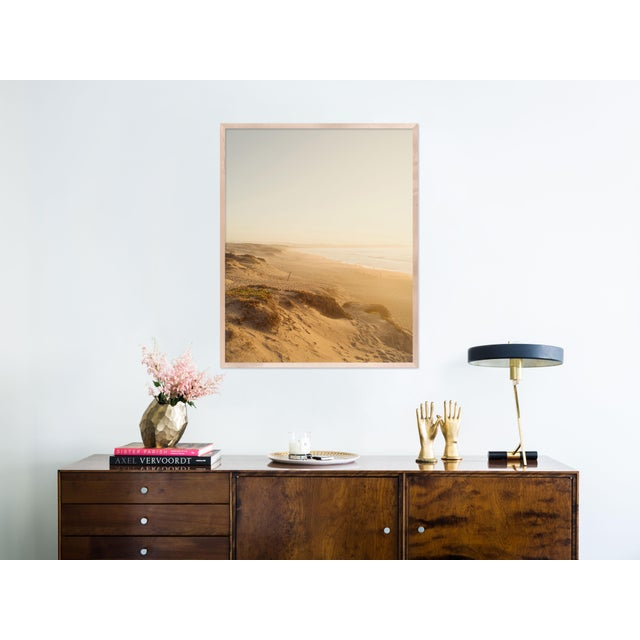 Contemporary Dunes by Christine Flynn in Natural Maple Framed Paper, Medium Art Print For Sale - Image 3 of 4