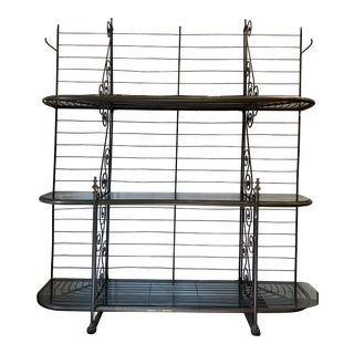 Antique French Iron Bakers Rack For Sale