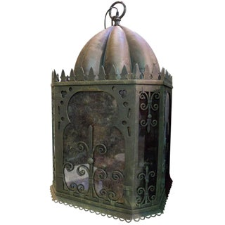 Moorish Iron Hanging Lamps For Sale