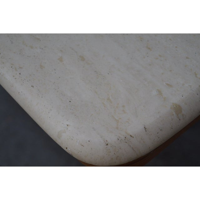 Danish Modern Teak & Travertine Coffee Table - Image 7 of 9