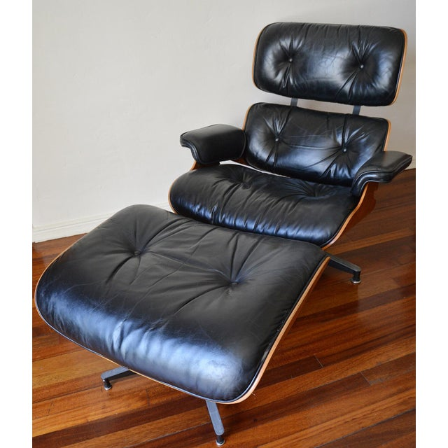 Vintage Herman Miller Rosewood Eames Lounge Chair & Ottoman - Image 2 of 11