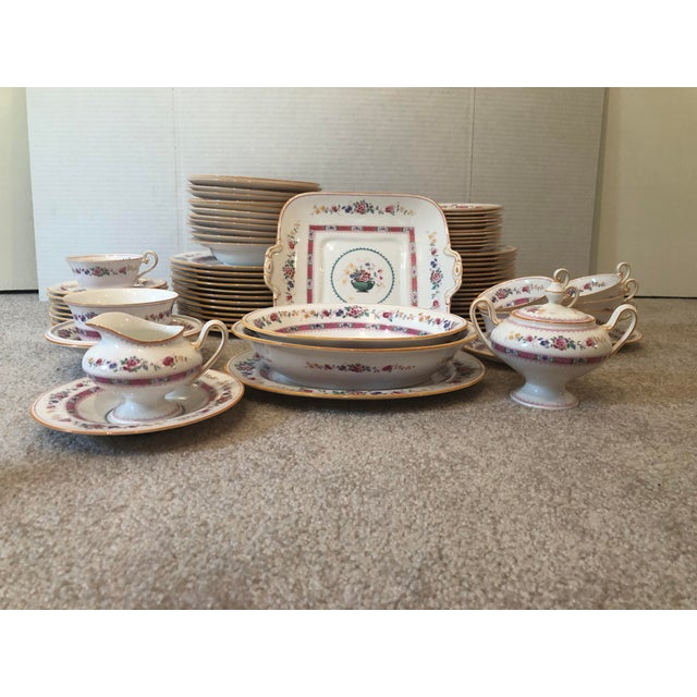 """Cottage English Royal Doulton """"Urn"""" Pattern Dinner Set - 80 Pieces For Sale - Image 3 of 13"""