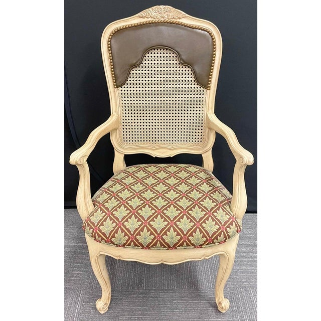 Set of 14 Louis XV Style Pickled Distress dining chairs. Can buy 8, 10, 12 or 14 pieces. Made by Century Furniture this...