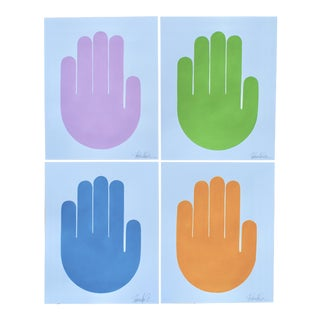 Talk to the Hands Original Paintings - Set of 4
