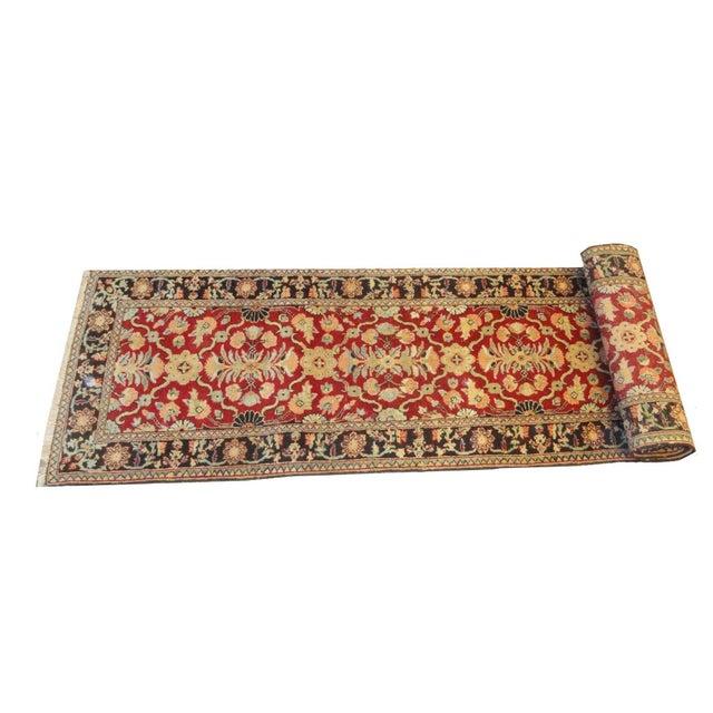 """Afghan Wool Runner Rug - 10'7"""" x 2'9"""" For Sale"""