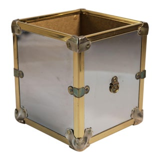 Brass and Chrome Regency Style Planter For Sale