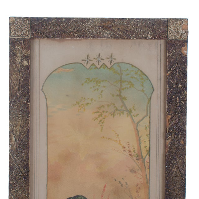Farmhouse Victorian Duck Chromolithograph Print For Sale - Image 3 of 7