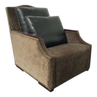 RJones Aviemore Lounge Chair With Premier Leather Back Pillows For Sale