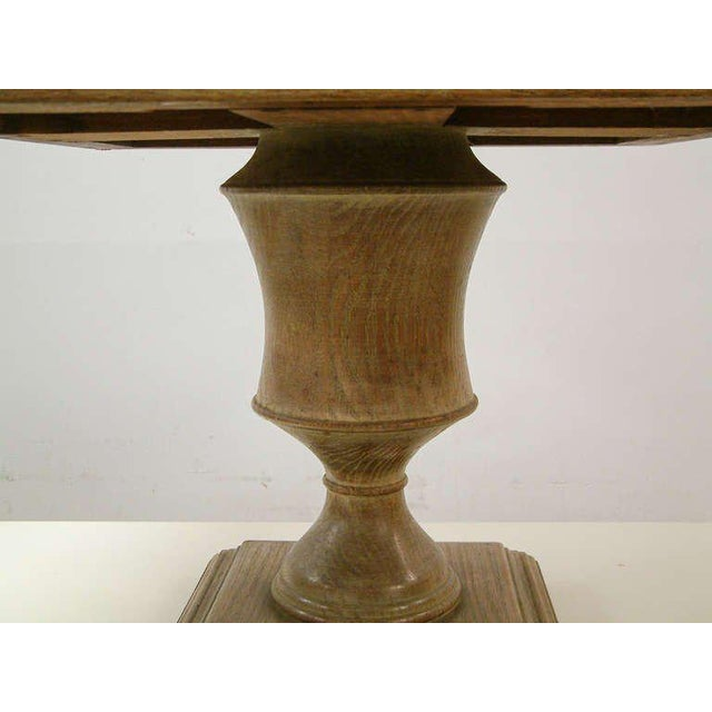Hollywood Regency Custom Cerused Oak, Brass and Marble End Tables - A Pair For Sale - Image 3 of 8