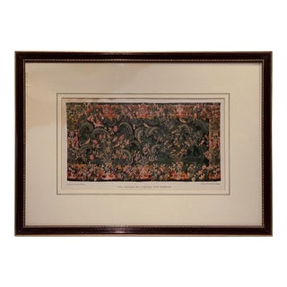 1910 Lithograph of Netherlands Tapestry For Sale