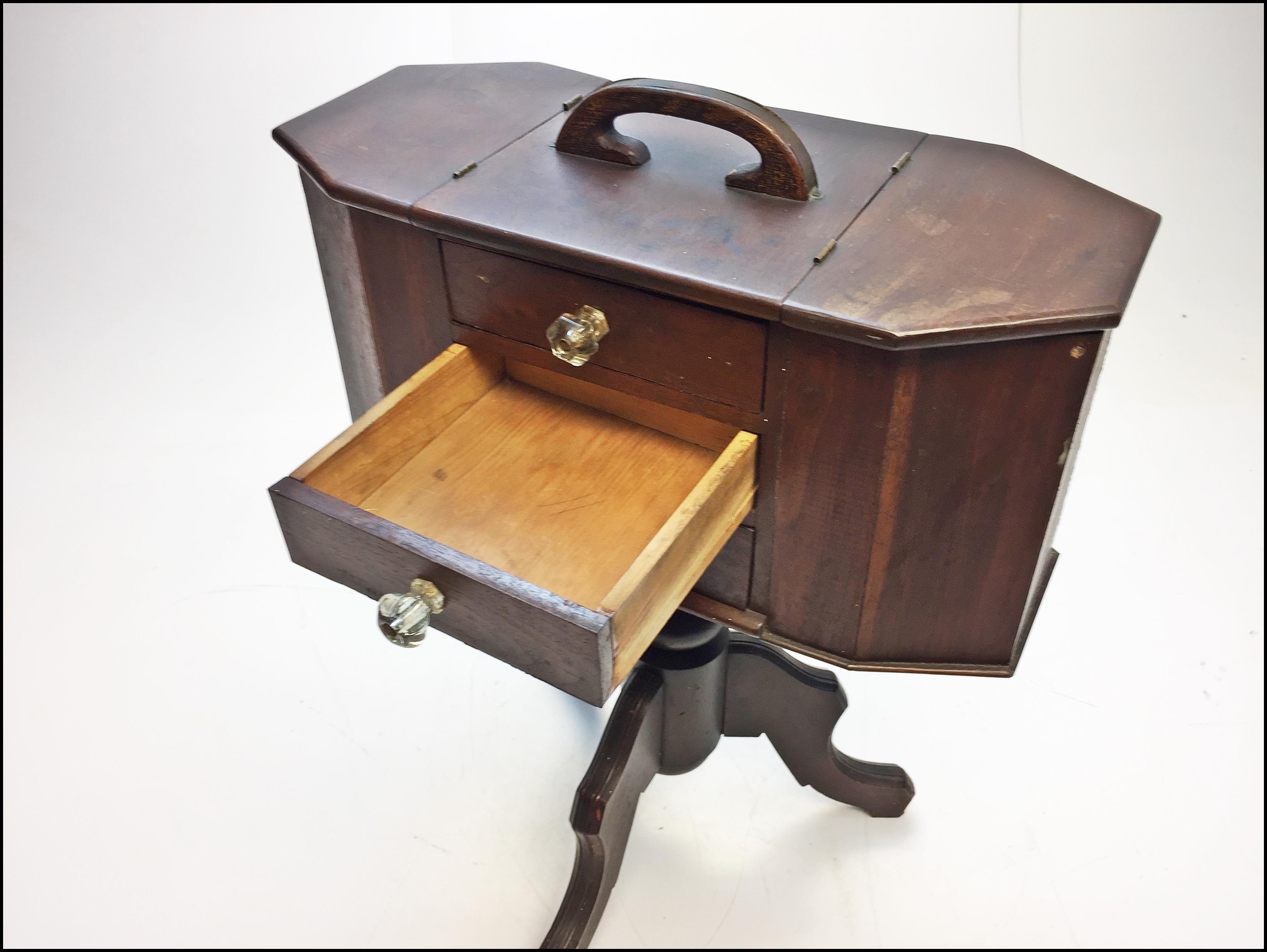 Vintage Wood Martha Washington Sewing Cabinet Stand   Image 5 Of 13
