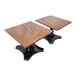 20th Century Early American Lambert Hitchcock Side Tables - a Pair For Sale