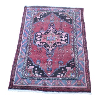 1950s Vintage Persian 'Navahand' Rug- 4′6″ × 6′6″ For Sale