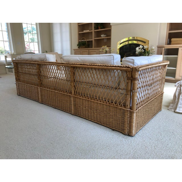 Mid-Century Modern The McGuire Company Wicker Couch For Sale - Image 3 of 6