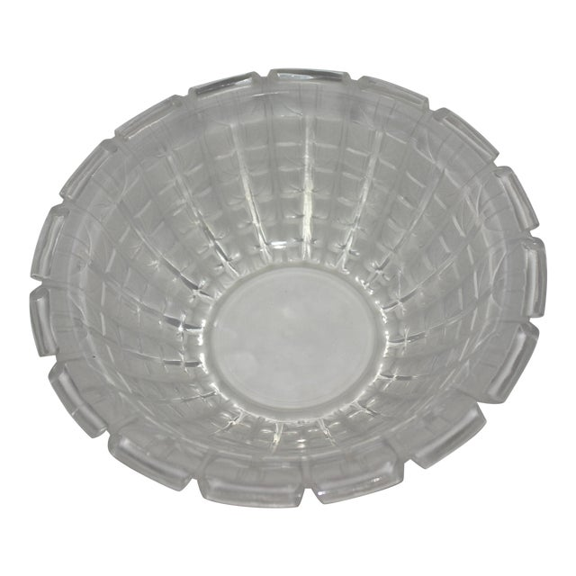 R. Lalique 1928 Acacia Pattern Opalescent Art Deco Crystal Bowl For Sale