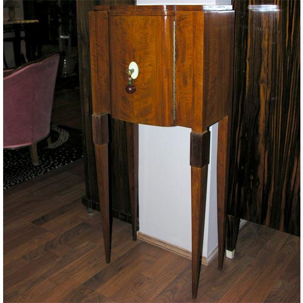 Tan Art Deco Jewelry Cabinet, after Ruhlmann For Sale - Image 8 of 8