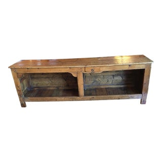French 19th Century Pine Counter For Sale