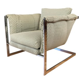 Vintage 1970s Cantilever Lounge Chair For Sale