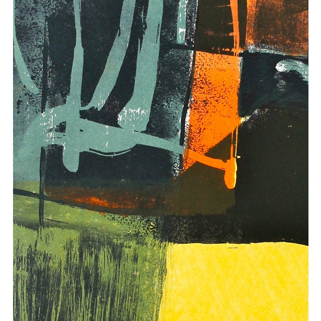 Jerry Opper Layered Mid Century Lithograph - Image 3 of 3