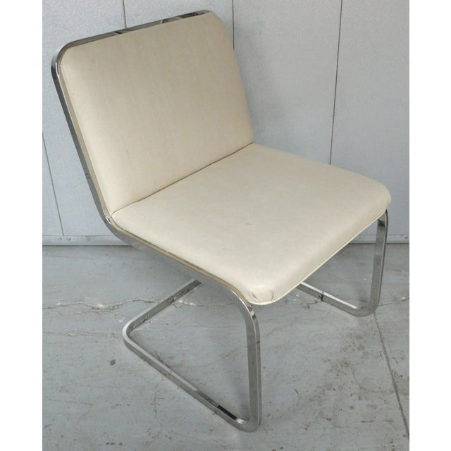 Brueton Set of Four Cantilever Chairs by Brueton For Sale - Image 4 of 8