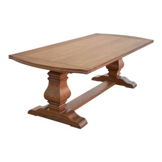 Expandable Dining Table Made From Rift Sawn Oak For Sale