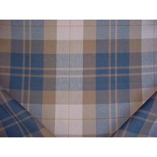 Ralph Lauren Summer Cottage Plaid Vintage Upholstery Fabric - 6-3/8 Yards For Sale
