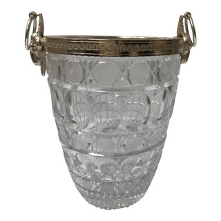 Vintage Glass Champagne Bucket