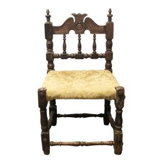 18th Century Italian Bobbin Chair For Sale