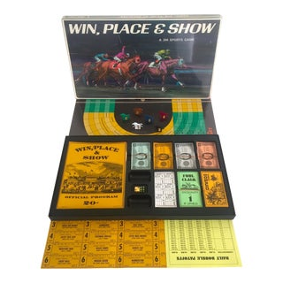 "Vintage 1966 Mid-Century "" Win Place Show "" 3m Sports Board Game Set"