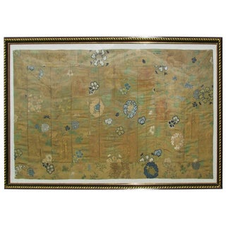 Large Antique Japanese Kesi Alter Cloth Tapestry