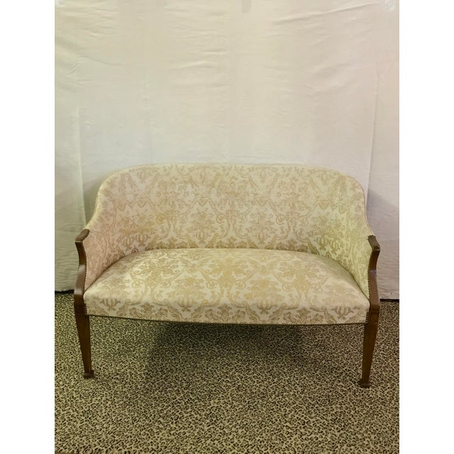 Vintage Neoclassical Settee With Nailhead Detail - Image 11 of 11