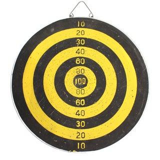 Yellow and Black Bullseye Dartboard