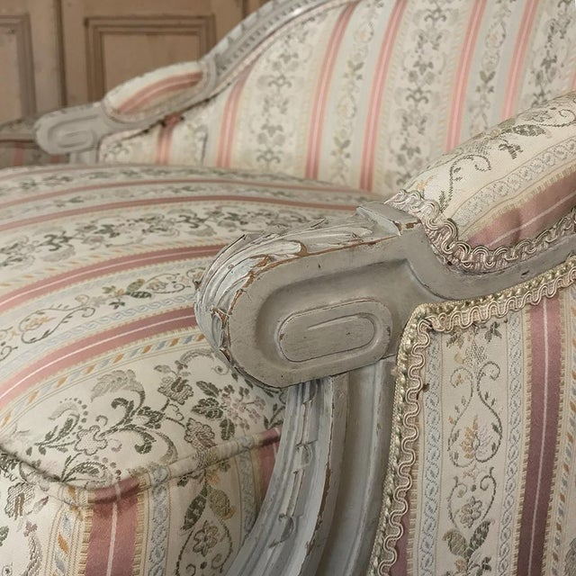 19th Century French Louis XV Chaise Duchesse Brisee (Chaise Lounge) For Sale - Image 10 of 13