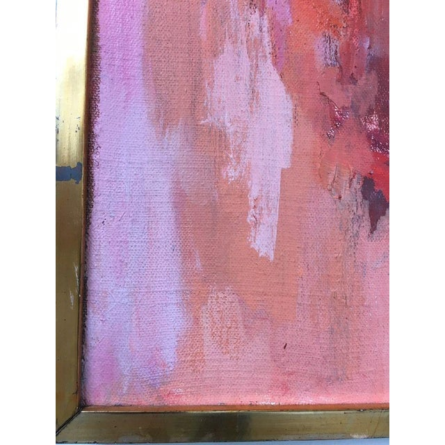 BT Wohl Mid-Century Abstract Oil Painting 1966 - Image 5 of 11