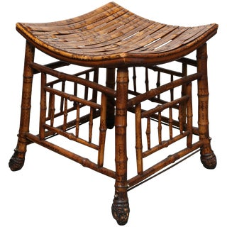 "19th Century Bamboo ""Thebes"" Bench"